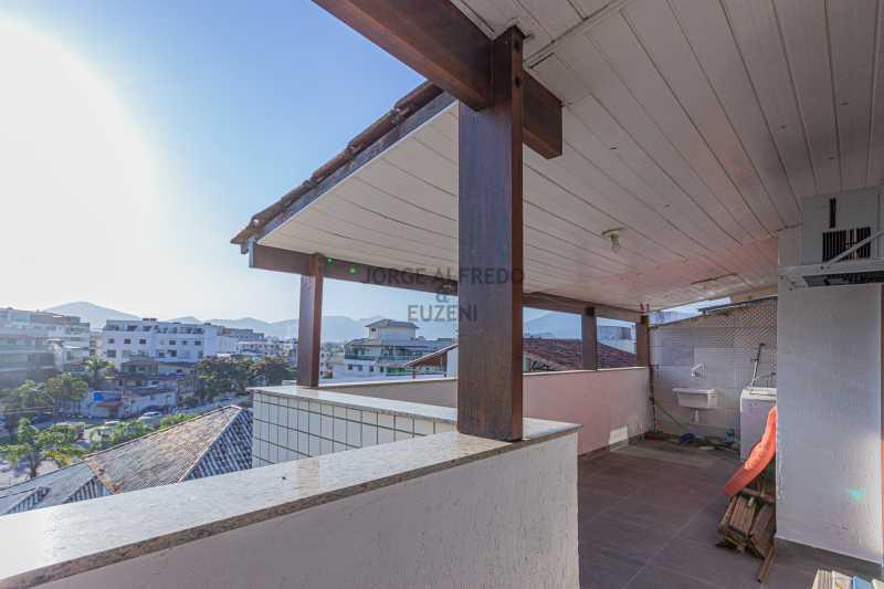 Varanda quartos e área de sev - Cobertura Vista Mar com 222 mt2 , Recreio dos Bandeirantes - JACO30017 - 3