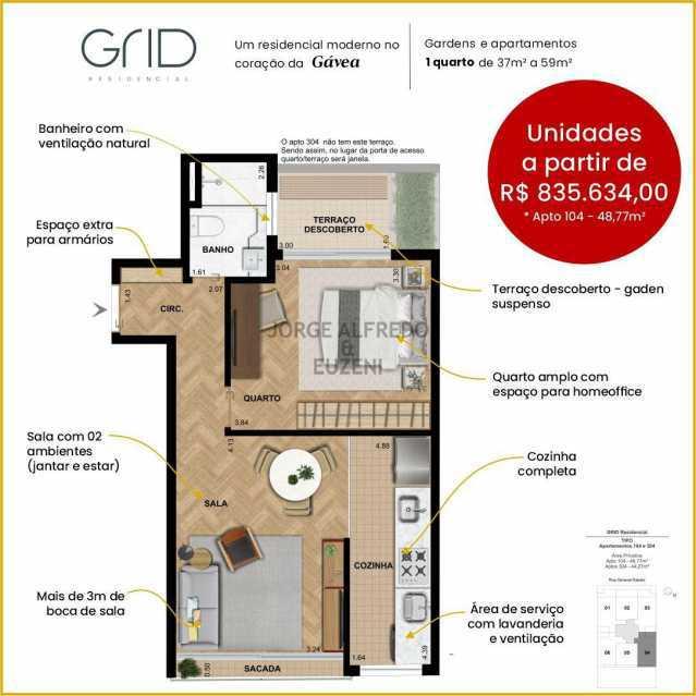 WhatsApp Image 2021-07-12 at 1 - Apartamento 1 quarto à venda Gávea, Rio de Janeiro - R$ 835.634 - JAAP10025 - 3