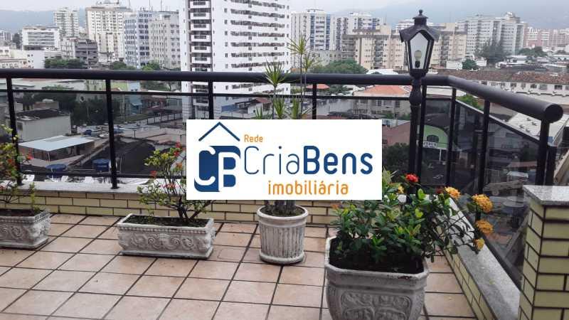 1 - Cobertura 4 quartos à venda Cachambi, Rio de Janeiro - R$ 910.000 - PPCO40002 - 1
