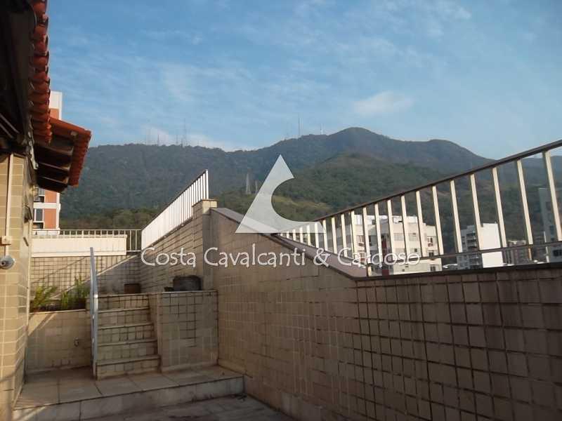terraço vista - Cobertura 3 quartos à venda Tijuca, Rio de Janeiro - R$ 1.200.000 - TJCO30019 - 6