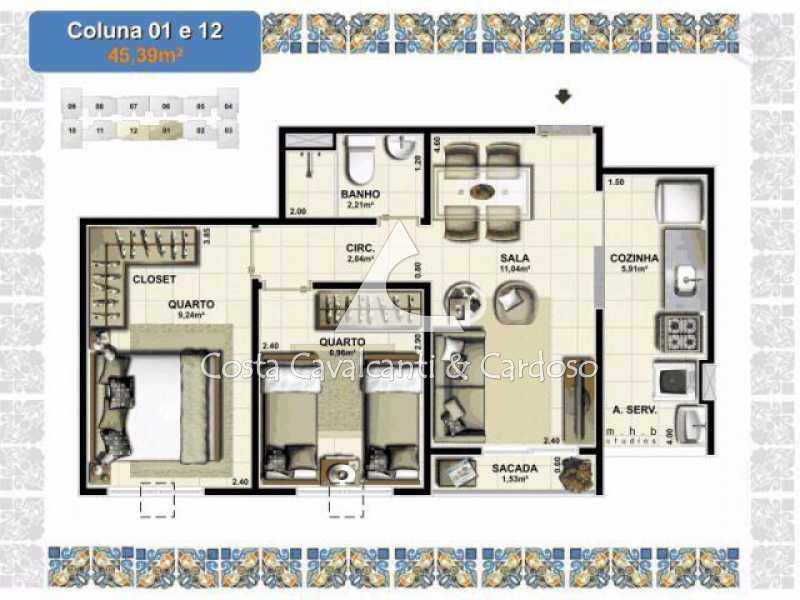Planta - Apartamento Vasco da Gama,Rio de Janeiro,RJ À Venda,2 Quartos,50m² - TJAP20255 - 21