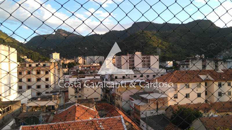 1 vista terraço - Cobertura 3 quartos à venda Rio Comprido, Rio de Janeiro - R$ 580.000 - TJCO30041 - 1