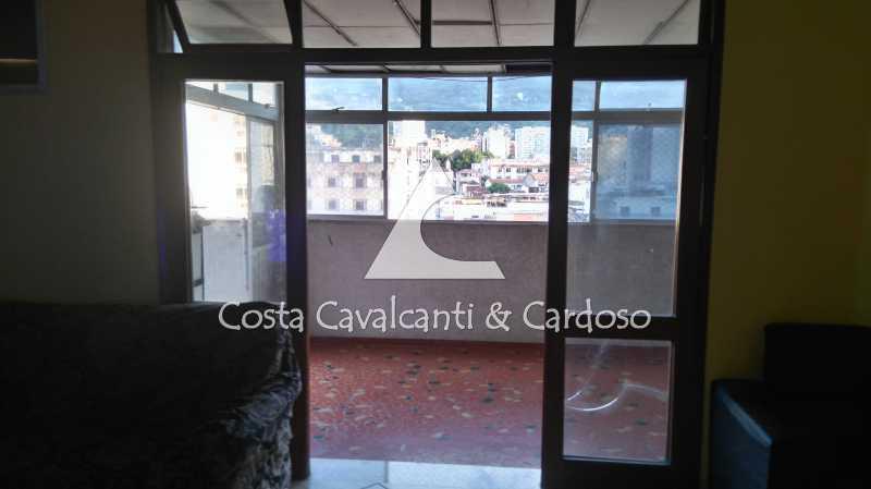 4vista para terraço - Cobertura 3 quartos à venda Rio Comprido, Rio de Janeiro - R$ 580.000 - TJCO30041 - 5