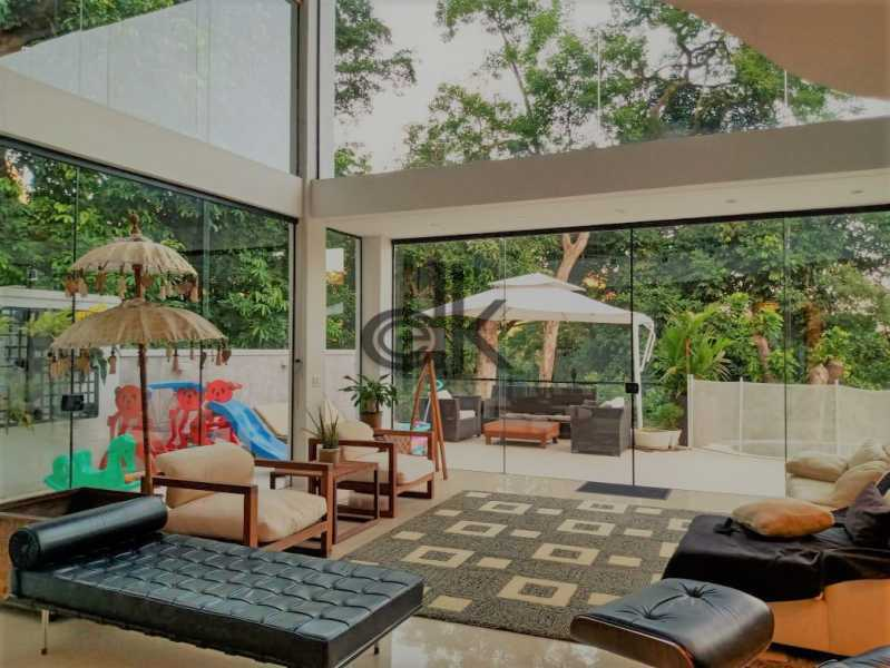 10_Sala de estar integrada à  - Casa em Condomínio 4 quartos à venda Itanhangá, Rio de Janeiro - R$ 5.200.000 - 6229 - 7