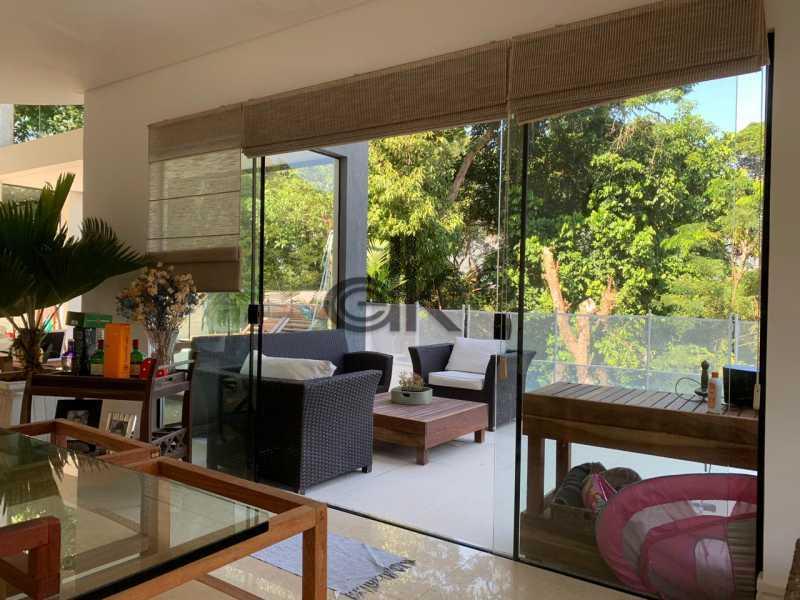 12_Sala de estar integrada à  - Casa em Condomínio 4 quartos à venda Itanhangá, Rio de Janeiro - R$ 5.200.000 - 6229 - 9