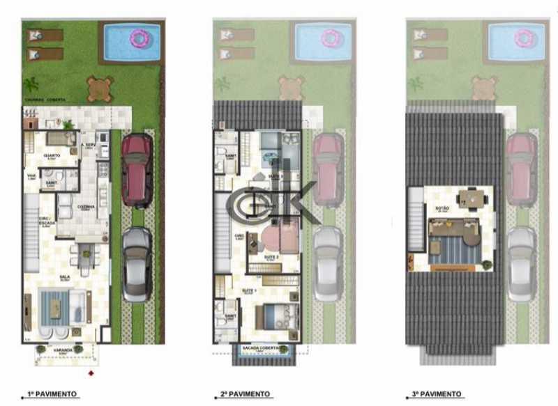 Planta baixa 3 pavimentos - Casa em Condomínio 3 quartos à venda Vargem Grande, Rio de Janeiro - R$ 798.500 - 6245 - 15