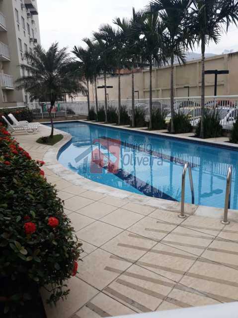 9. area da piscina. - Belíssimo Apartamento 2 Quartos. - VPAP20911 - 1