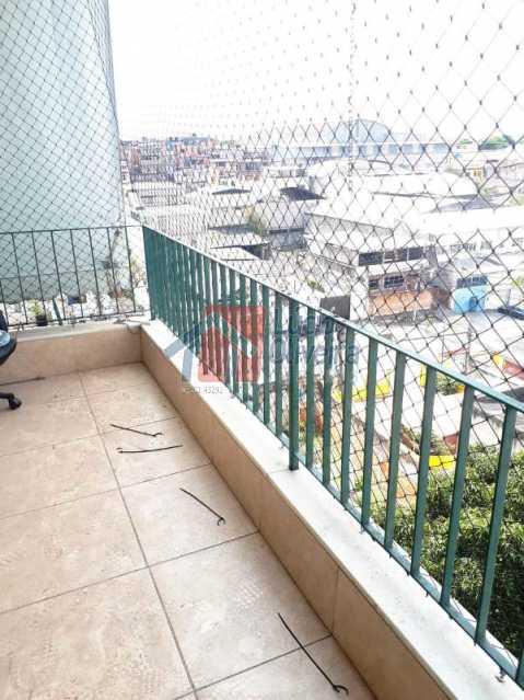 4 varanda 1 - Magnífico Apartamento 2 quartos. Prédio com 2 elevadores. - VPAP20926 - 5
