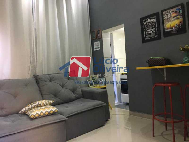 3 sala - Casa de Vila Olaria, Rio de Janeiro, RJ À Venda, 1 Quarto, 45m² - VPCV10028 - 4