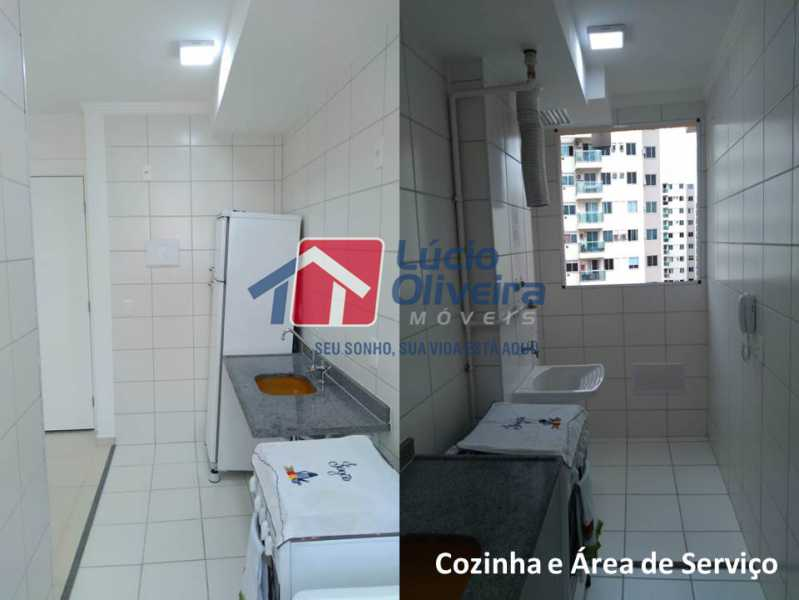 05- Area e Cozinha. - Apartamento À Venda - Penha - Rio de Janeiro - RJ - VPAP21169 - 6