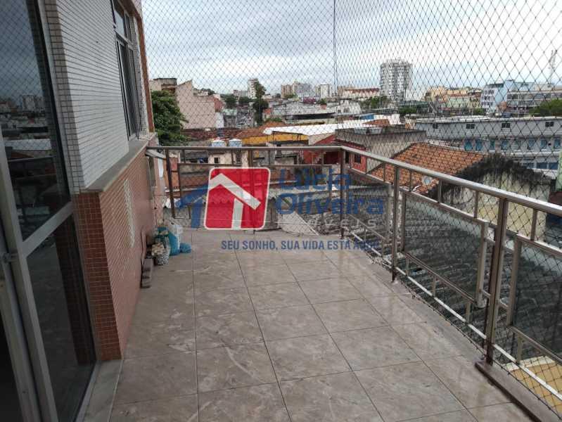 27- Varanda - Apartamento Rua Doutor Miguel Vieira Ferreira,Ramos, Rio de Janeiro, RJ À Venda, 2 Quartos, 76m² - VPAP21228 - 27