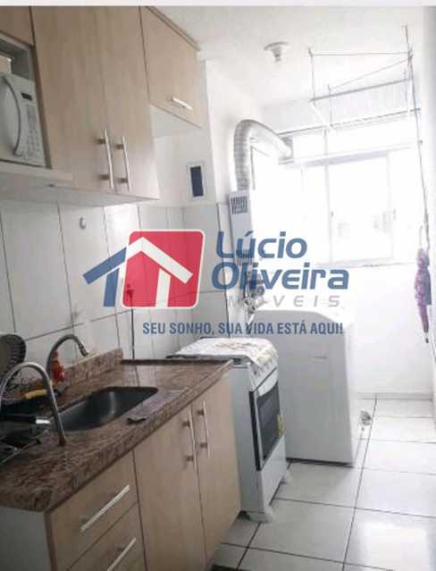 9-Cozinha planejada... - Apartamento à venda Estrada João Paulo,Honório Gurgel, Rio de Janeiro - R$ 145.000 - VPAP21263 - 11