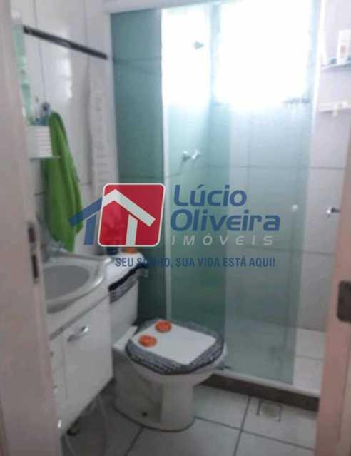 11-Banheiro blindex - Apartamento à venda Estrada João Paulo,Honório Gurgel, Rio de Janeiro - R$ 145.000 - VPAP21263 - 13
