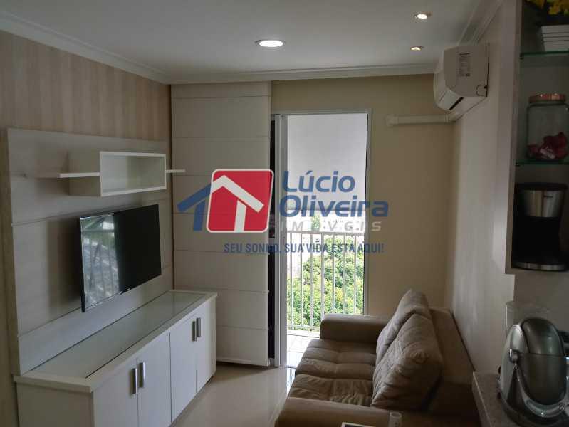 03- Sala - Apartamento à venda Avenida Pastor Martin Luther King Jr,Vila da Penha, Rio de Janeiro - R$ 260.000 - VPAP21294 - 1