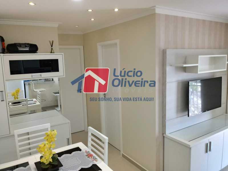 04- Sala - Apartamento à venda Avenida Pastor Martin Luther King Jr,Vila da Penha, Rio de Janeiro - R$ 260.000 - VPAP21294 - 5