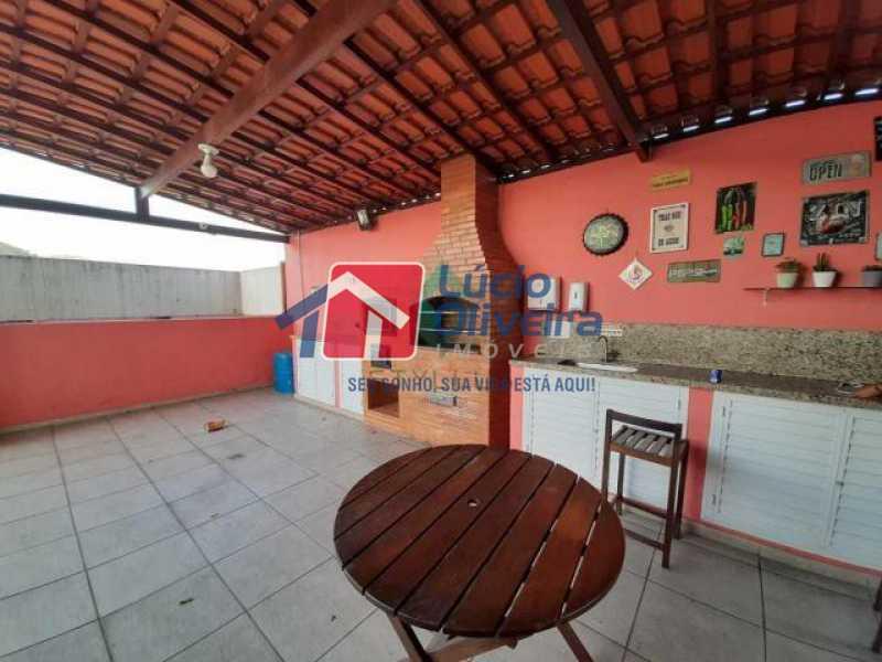 6Salão festa e churrasqueira - Apartamento à venda Rua Cerqueira Daltro,Cascadura, Rio de Janeiro - R$ 270.000 - VPAP21428 - 7