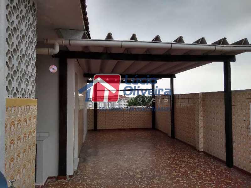 13 terraço - Casa de Vila à venda Avenida Londres,Bonsucesso, Rio de Janeiro - R$ 350.000 - VPCV30020 - 14