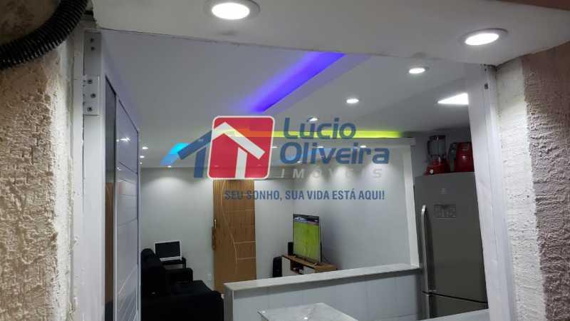 1-Sala e cozinha teto rabeixad - Casa à venda Rua Fernandes Gusmão,Irajá, Rio de Janeiro - R$ 220.000 - VPCA20269 - 1