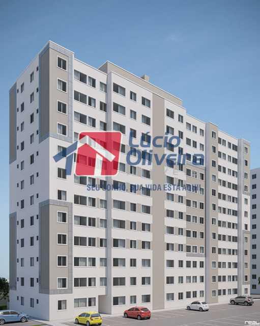 19-fachada condominio - Apartamento à venda Estrada do Colégio,Colégio, Rio de Janeiro - R$ 240.000 - VPAP21449 - 20