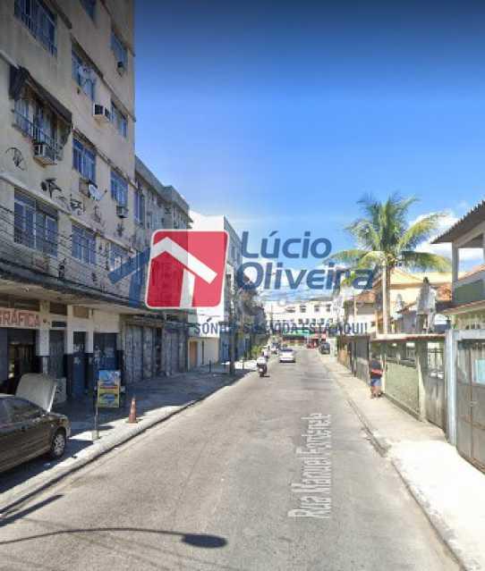 14-Vista da Rua - Apartamento à venda Rua Manuel Fontenele,Higienópolis, Rio de Janeiro - R$ 190.000 - VPAP21463 - 15