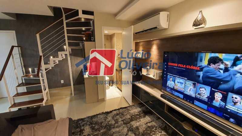 01- Sala - Apartamento à venda Estrada do Guanumbi,Freguesia (Jacarepaguá), Rio de Janeiro - R$ 550.000 - VPAP21495 - 1