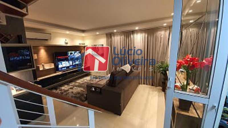 02- Sala - Apartamento à venda Estrada do Guanumbi,Freguesia (Jacarepaguá), Rio de Janeiro - R$ 550.000 - VPAP21495 - 3