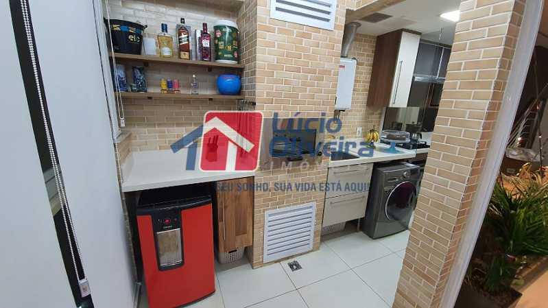 11- Espaço gourmet - Apartamento à venda Estrada do Guanumbi,Freguesia (Jacarepaguá), Rio de Janeiro - R$ 550.000 - VPAP21495 - 12