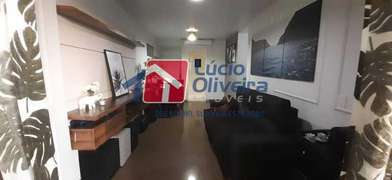 02- Sala - Apartamento à venda Rua Raul da Cunha Ribeiro,Recreio dos Bandeirantes, Rio de Janeiro - R$ 588.000 - VPAP30364 - 3