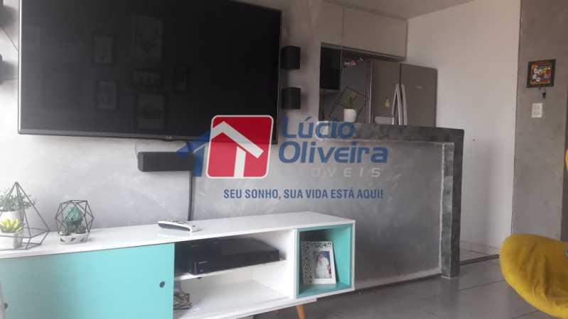 3- Sala TV. - Apartamento à venda Rua Bernardo Taveira,Vila da Penha, Rio de Janeiro - R$ 430.000 - VPAP21502 - 5
