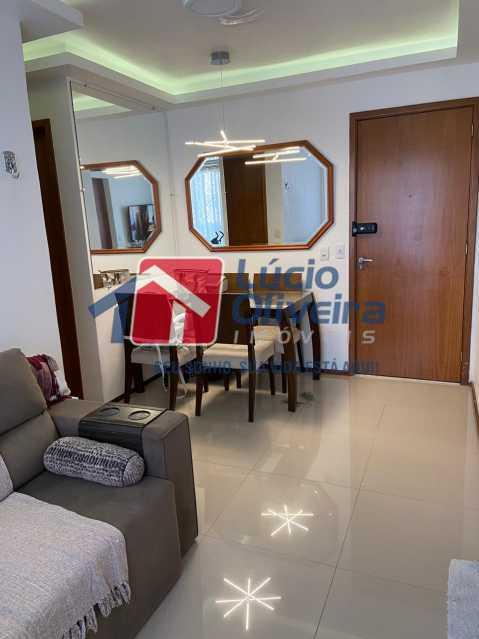 3-Sala jantar. - Apartamento à venda Rua Fernão Cardim,Del Castilho, Rio de Janeiro - R$ 285.000 - VPAP21521 - 4