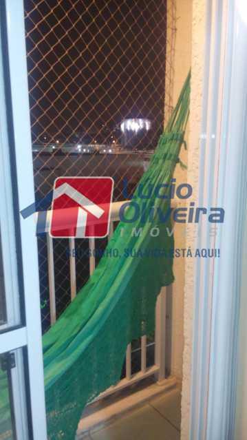 4- Varanda. - Apartamento à venda Rua Fernão Cardim,Del Castilho, Rio de Janeiro - R$ 285.000 - VPAP21521 - 5