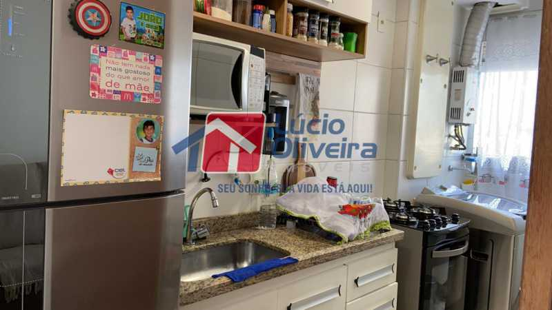 8-Cozinha planejada. - Apartamento à venda Rua Fernão Cardim,Del Castilho, Rio de Janeiro - R$ 285.000 - VPAP21521 - 10