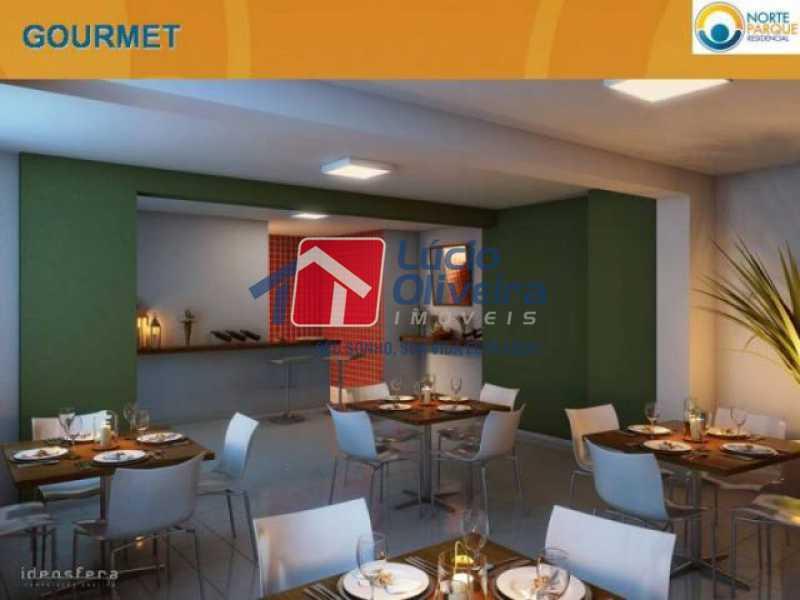 14-Area gourmet condominio. - Apartamento à venda Rua Fernão Cardim,Del Castilho, Rio de Janeiro - R$ 285.000 - VPAP21521 - 16
