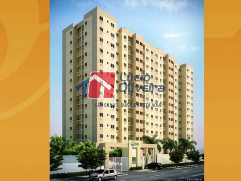 15-Vista externa condominio. - Apartamento à venda Rua Fernão Cardim,Del Castilho, Rio de Janeiro - R$ 285.000 - VPAP21521 - 17