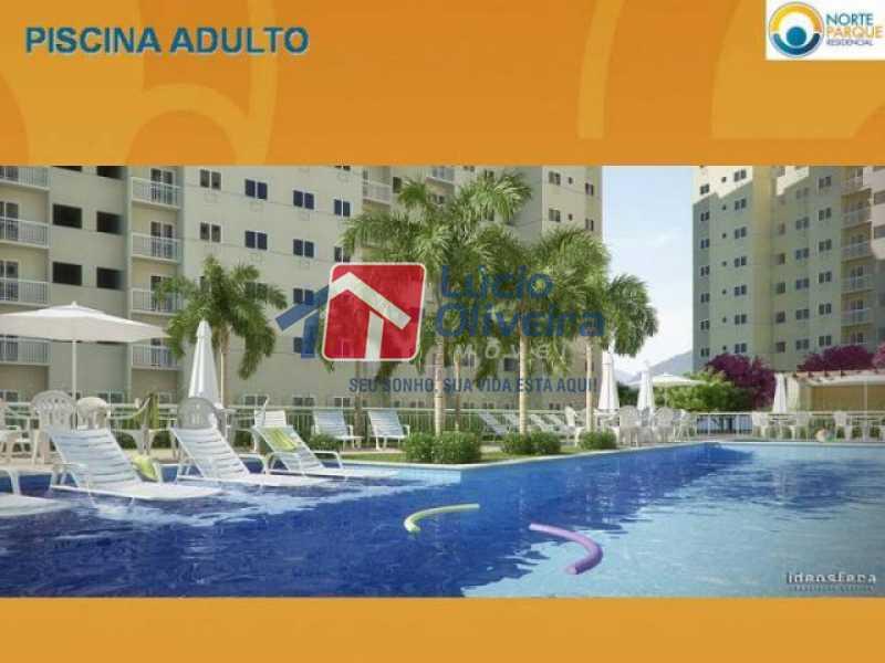 16-Piscina Adulto. - Apartamento à venda Rua Fernão Cardim,Del Castilho, Rio de Janeiro - R$ 285.000 - VPAP21521 - 18