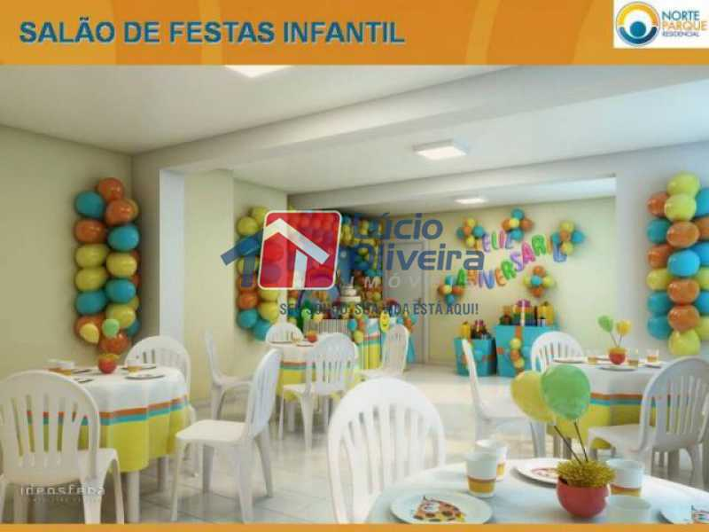 20-Salão festas infantil. - Apartamento à venda Rua Fernão Cardim,Del Castilho, Rio de Janeiro - R$ 285.000 - VPAP21521 - 22