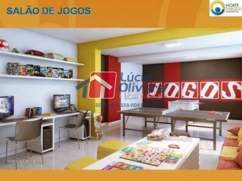21-Salão jogos. - Apartamento à venda Rua Fernão Cardim,Del Castilho, Rio de Janeiro - R$ 285.000 - VPAP21521 - 23