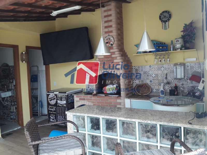 14-Churrasqueira e bar - Casa em Condomínio à venda Rua Mário Barbedo,Vila Valqueire, Rio de Janeiro - R$ 599.000 - VPCN30012 - 15