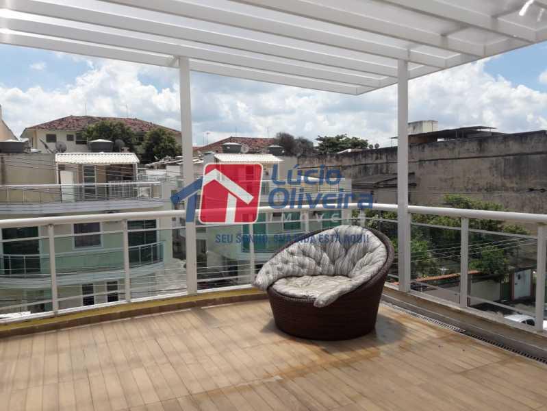 18-Terraço coberto - Casa em Condomínio à venda Rua Mário Barbedo,Vila Valqueire, Rio de Janeiro - R$ 599.000 - VPCN30012 - 19