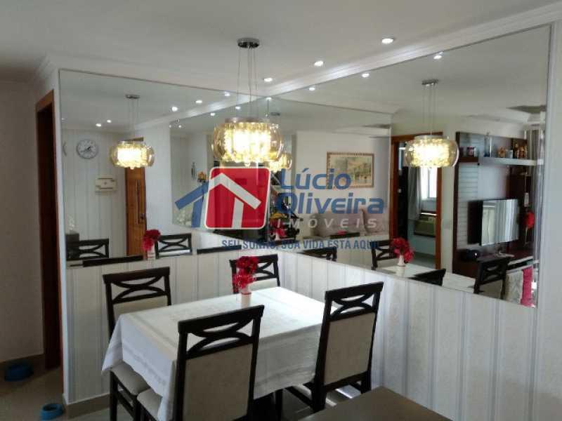 1- Sala decorada - Apartamento 2 quartos à venda Rocha Miranda, Rio de Janeiro - R$ 255.000 - VPAP21540 - 1