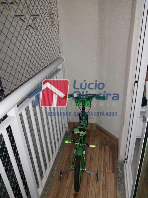 3-Varanda - Apartamento à venda Estrada Adhemar Bebiano,Del Castilho, Rio de Janeiro - R$ 370.000 - VPAP30396 - 4