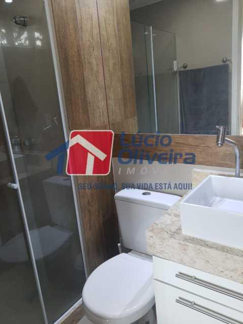 10-Banheiro suite - Apartamento à venda Estrada Adhemar Bebiano,Del Castilho, Rio de Janeiro - R$ 370.000 - VPAP30396 - 11