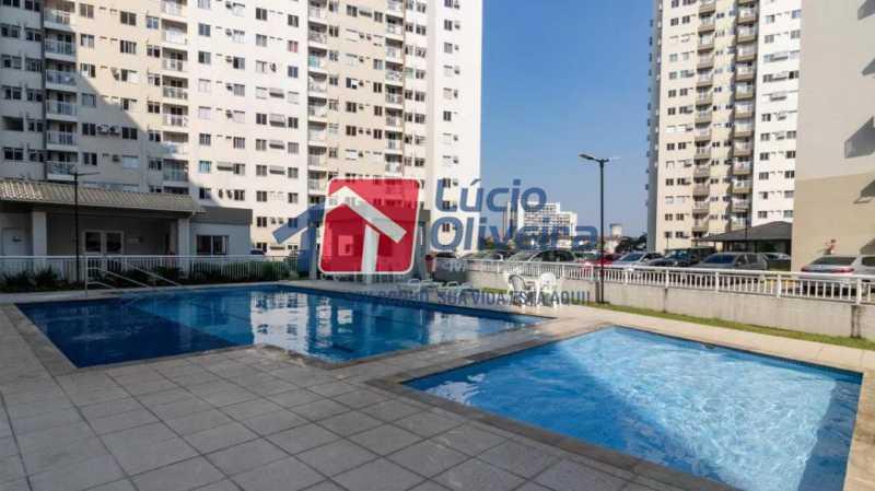 14-Piscinas - Apartamento à venda Estrada Adhemar Bebiano,Del Castilho, Rio de Janeiro - R$ 370.000 - VPAP30396 - 14