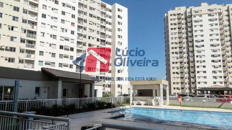 15-Ppiscina e vista interna co - Apartamento à venda Estrada Adhemar Bebiano,Del Castilho, Rio de Janeiro - R$ 370.000 - VPAP30396 - 15