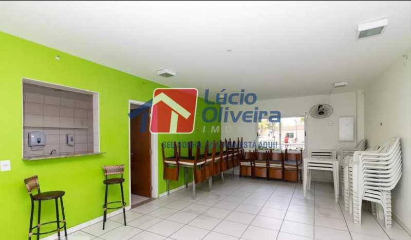 21-Salão festas - Apartamento à venda Estrada Adhemar Bebiano,Del Castilho, Rio de Janeiro - R$ 370.000 - VPAP30396 - 21