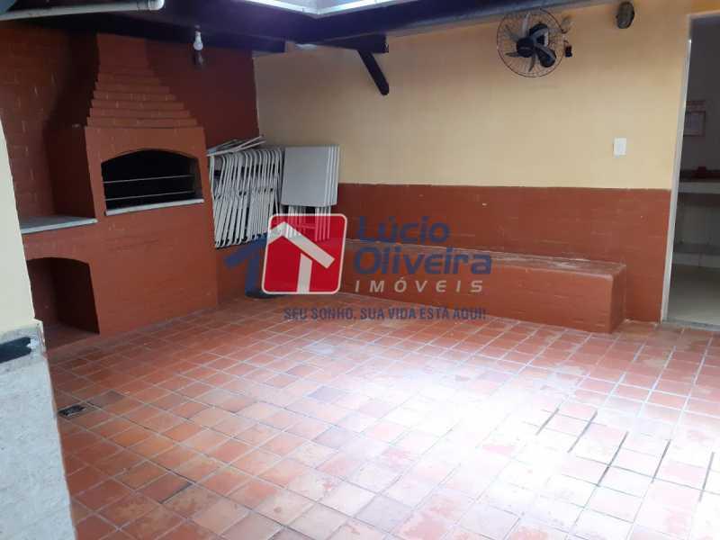 29- Churrasqueira Salão - Apartamento à venda Rua Tomás Lópes,Vila da Penha, Rio de Janeiro - R$ 390.000 - VPAP21577 - 30