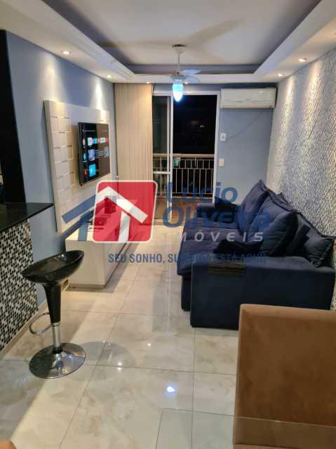 3-sala - Apartamento à venda Rua Cachambi,Cachambi, Rio de Janeiro - R$ 685.000 - VPAP21593 - 4