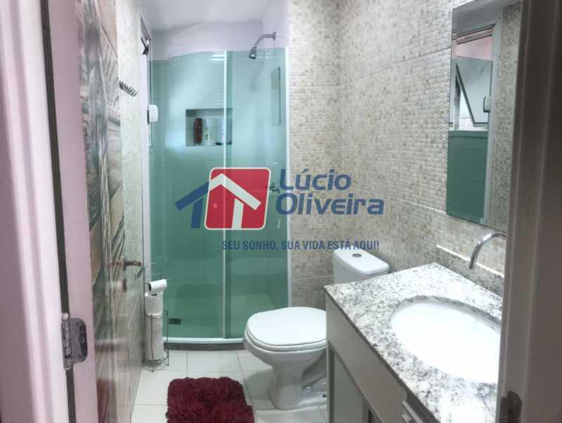 16-Banheiro social cobertura - Cobertura à venda Rua Bernardo Taveira,Vila da Penha, Rio de Janeiro - R$ 585.000 - VPCO20018 - 16