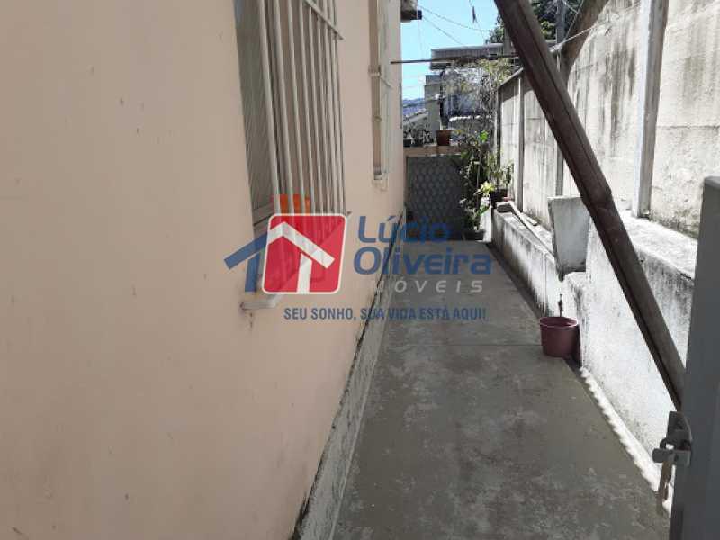 19- Circulação externa - Casa à venda Rua Viseu,Rocha, Rio de Janeiro - R$ 340.000 - VPCA40071 - 20