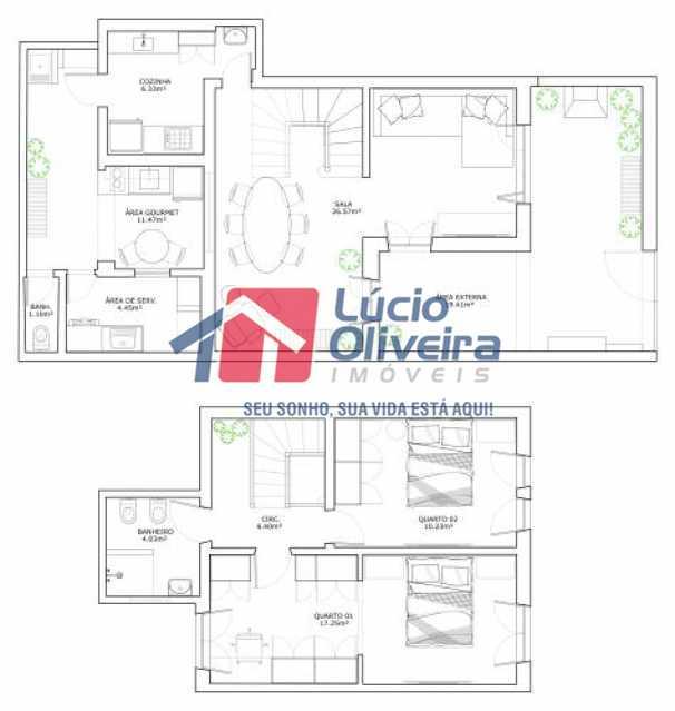 fotos-24 - Casa à venda Rua Uruguai,Tijuca, Rio de Janeiro - R$ 790.000 - VPCA30223 - 24